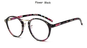 The One and Only Classic Transparent Round Glasses Frames Women's Eyewear Frames SHENZHEN BO SHI TONG Flower Black