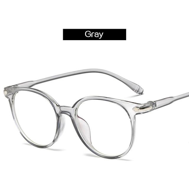 The Easy Breezy Unisex Old-School Crime Novel Vintage Eyeglasses Frames Men's Eyewear Frames Topglasses Store Gray