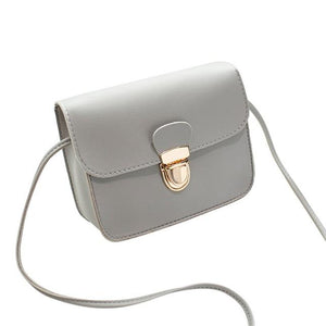 The Tiny Button Crossbody Shoulder Messenger Bag Top-Handle Bags St Ruizhu Store Gray