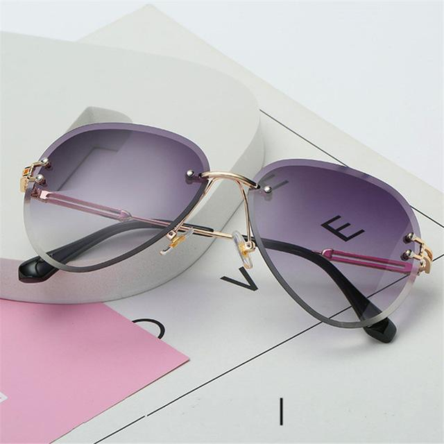 The Invisible Floating Rimless Frameless Gradient Tint Sunglasses - HABIT