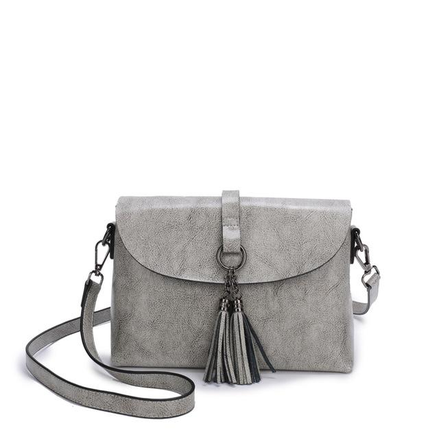 The Femme Fatale Victorian Leather Briefcase Messenger Crossbody Bag Top-Handle Bags ESUFEIR Official Store Gray