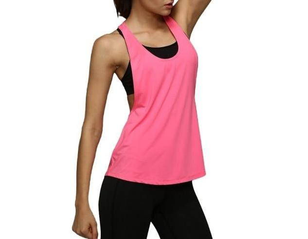 The Minimal Sleeveless Singlet Vest Yoga Shirts Loves Sporting Store Pink S