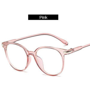 The Easy Breezy Unisex Old-School Crime Novel Vintage Eyeglasses Frames Men's Eyewear Frames Topglasses Store Pink
