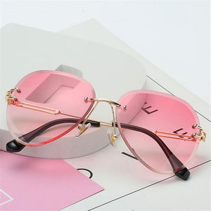 The Invisible Floating Rimless Frameless Gradient Tint Sunglasses Women's Sunglasses Shop4087002 Store Pink