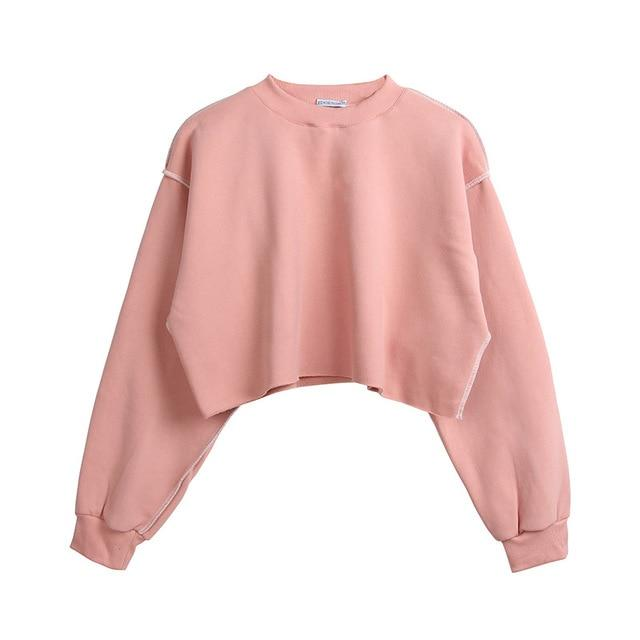 The Only Basic Autumn Winter Sweaters for Women Hoodies & Sweatshirts StreetwearX Store Pink S