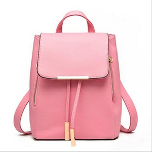 The Minimal School Rucksack Backpack Backpacks Rusoonnic Store Baby Pink