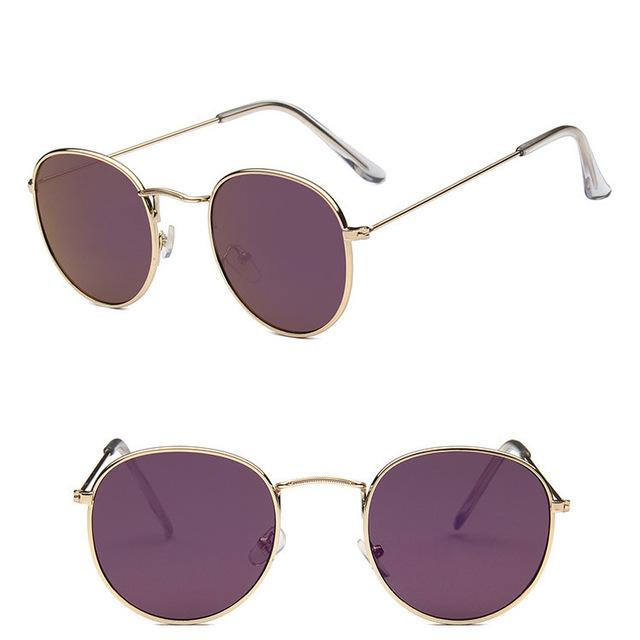 Classic Round Sun Street Beat Unix Mirror Sunglasses - HABIT