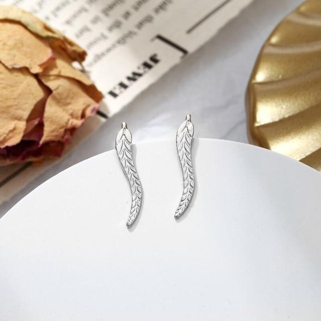 The Hypnotic Bling Ultimate Bejeweled Party Evening Wear Stud Earrings Collection Stud Earrings Fitable Trendy Store Silver Leaf