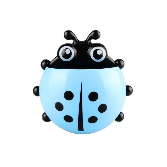 Ladybug Sucker Toothbrush Holder Bathroom Set Toothbrush & Toothpaste Holders Tanbaby Factory Store Blue