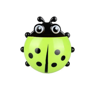 Ladybug Sucker Toothbrush Holder Bathroom Set Toothbrush & Toothpaste Holders Tanbaby Factory Store Green