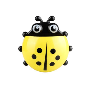Ladybug Sucker Toothbrush Holder Bathroom Set Toothbrush & Toothpaste Holders Tanbaby Factory Store Yellow
