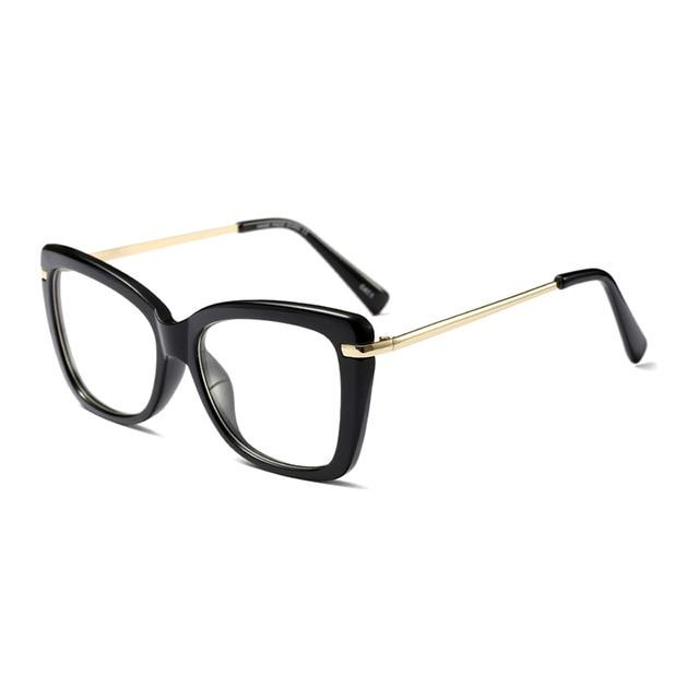 Find Your Dream Pair With The Squarish Cat Eyeglasses Frames Women's Eyewear Frames Logorela Official Store Black