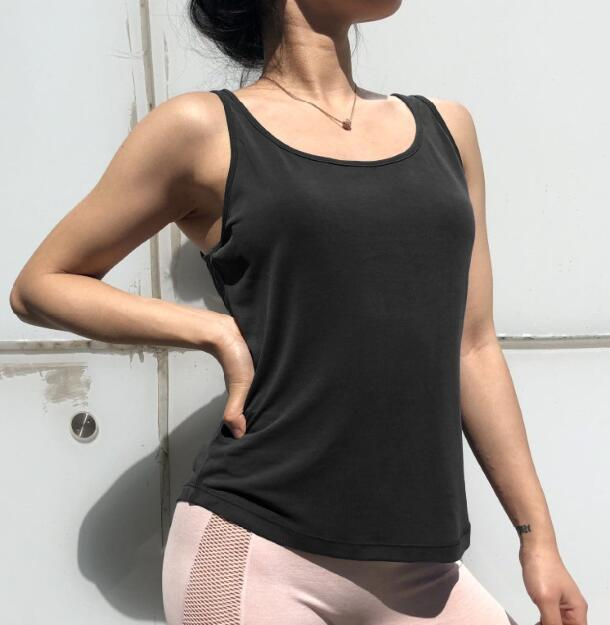 Easy-Breezy Backless Yoga Singlet Yoga Shirts LA a L'A Store Black S