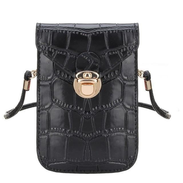 Mini Crocodile Phone Clutch Shoulder Bag Shoulder Bags CNY Trade Co.,Ltd Black