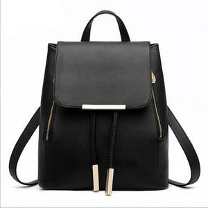 The Minimal School Rucksack Backpack Backpacks Rusoonnic Store Classic Black