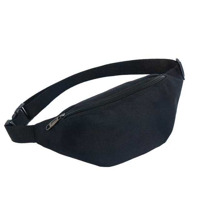 Colour Block Canvas Waist Chest Bag Waist Packs AIREEBAY Store Black