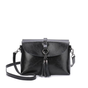 The Femme Fatale Victorian Leather Briefcase Messenger Crossbody Bag Top-Handle Bags ESUFEIR Official Store Black