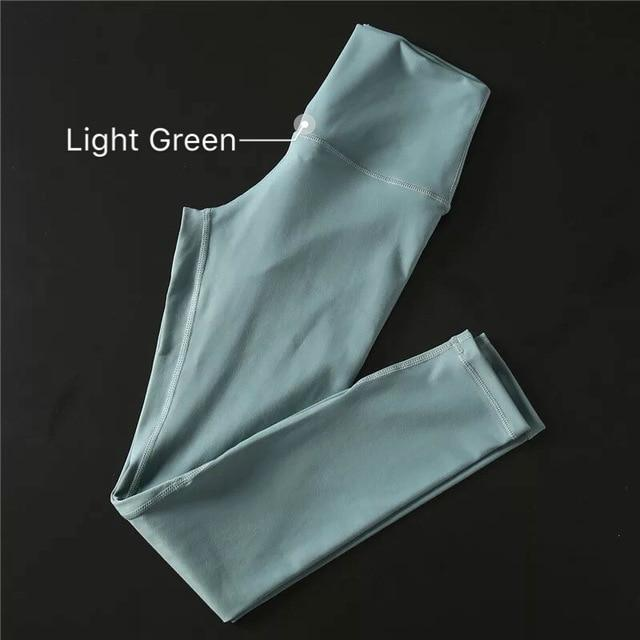The Secret Secure Card Keeper Anti-Sweat High-Compression Slimming Yoga & Gym Leggings Yoga Pants COLORVALUE Official Store Light Green XS