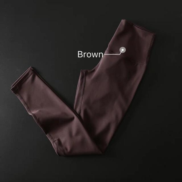 The Secret Secure Card Keeper Anti-Sweat High-Compression Slimming Yoga & Gym Leggings Yoga Pants COLORVALUE Official Store Brown XS