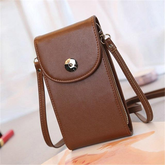 Teeny-Tiny Mini Cell Phone Crossbody Bag Top-Handle Bags CNY Trade Co.,Ltd Brown