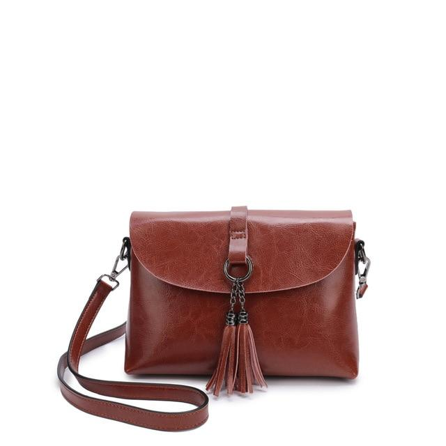 The Femme Fatale Victorian Leather Briefcase Messenger Crossbody Bag Top-Handle Bags ESUFEIR Official Store Brown