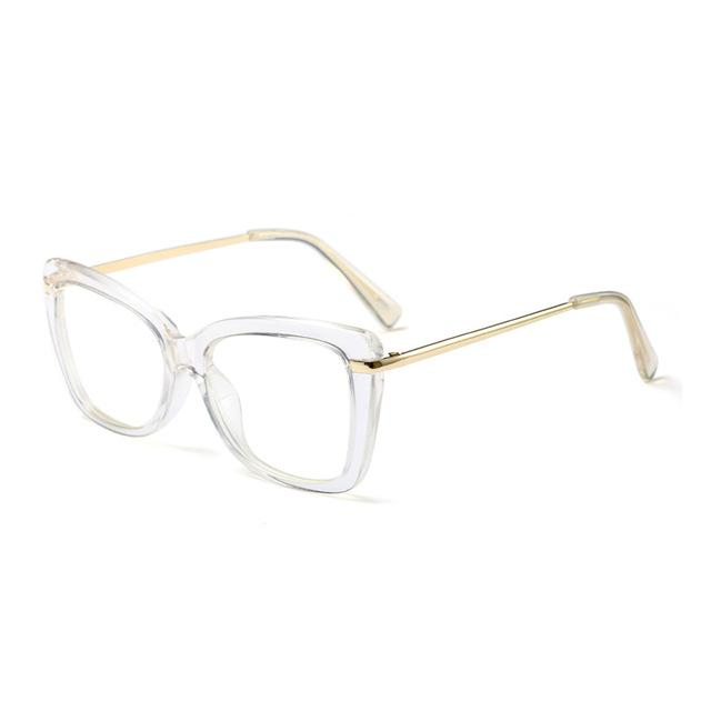 Find Your Dream Pair With The Squarish Cat Eyeglasses Frames Women's Eyewear Frames Logorela Official Store Clear