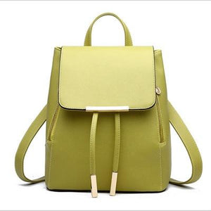 The Minimal School Rucksack Backpack Backpacks Rusoonnic Store Yellow Green