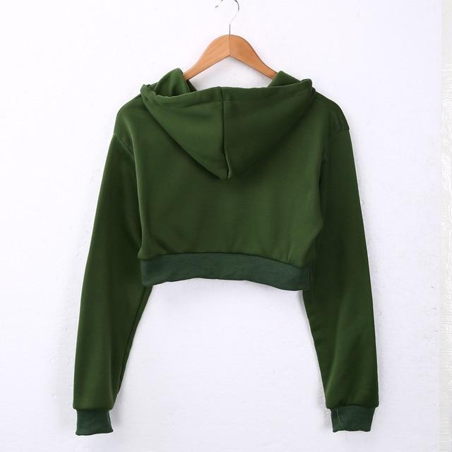 The Must-Have Over-sized Crop Hoodie Hoodies & Sweatshirts Rosie Design Store Green S