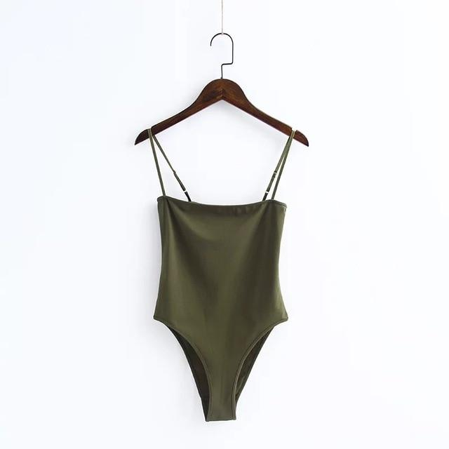 The Spaghetti Strap Backless Slimming Bodysuit - HABIT