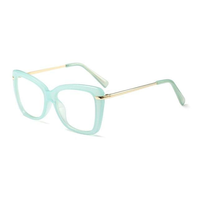 Find Your Dream Pair With The Squarish Cat Eyeglasses Frames Women's Eyewear Frames Logorela Official Store Green