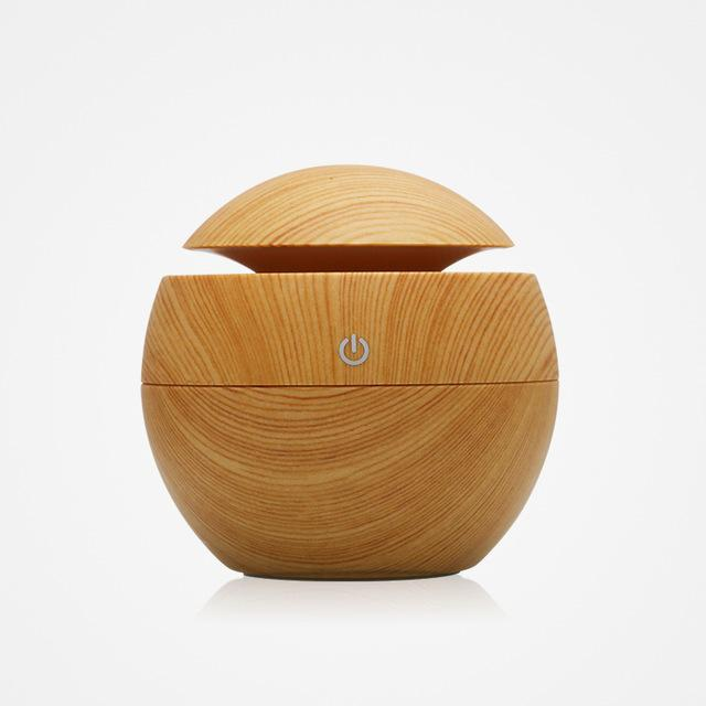 The Eco-Friendly USB Essential Oil Aroma Diffuser, Ultrasonic Cool Mist Air Purifier Humidifier, AND 7 LED Colour Changing Night Light Ball of Wonder Humidifiers KBAYBO Official Store Apple Wood (Light) (Style A)