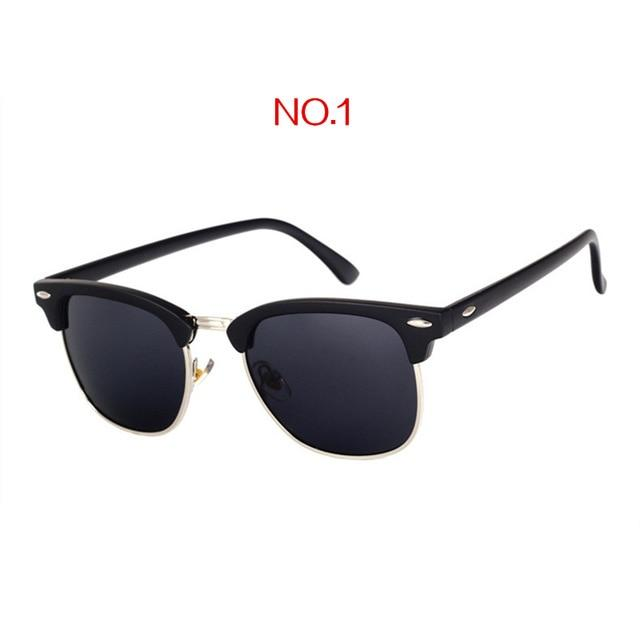 The Classic High Brow Retro Polarized Unisex Girls Sunglasses Men's Sunglasses yooske Official Store NO1