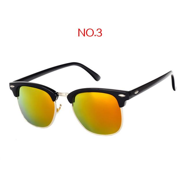 The Classic High Brow Retro Polarized Unisex Girls Sunglasses Men's Sunglasses yooske Official Store NO3
