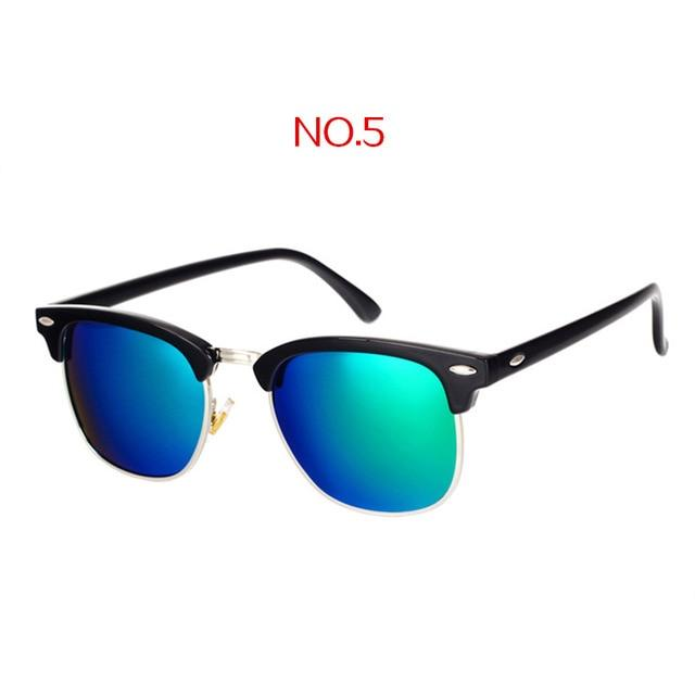 The Classic High Brow Retro Polarized Unisex Girls Sunglasses Men's Sunglasses yooske Official Store NO5
