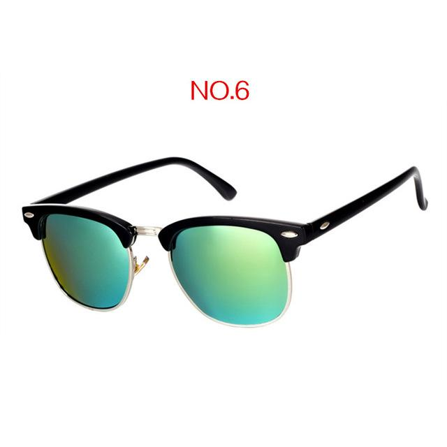 The Classic High Brow Retro Polarized Unisex Girls Sunglasses Men's Sunglasses yooske Official Store NO6