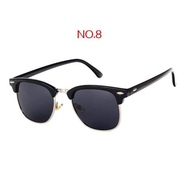 The Classic High Brow Retro Polarized Unisex Girls Sunglasses Men's Sunglasses yooske Official Store NO8