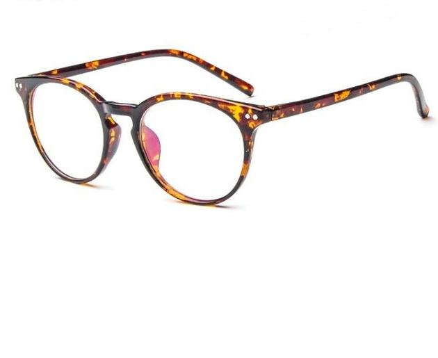 Put Some Quirky Flair Into Your Daily Looks With Vintage Round Clear Eyeglasses Frames Men's Eyewear Frames Yaobo Glasses Store LEOPARD