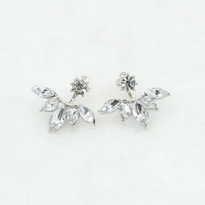 The Hypnotic Bling Ultimate Bejeweled Party Evening Wear Stud Earrings Collection Stud Earrings Fitable Trendy Store Silver Shiny Bling Flower Petals
