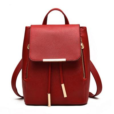The Minimal School Rucksack Backpack Backpacks Rusoonnic Store Blood Red