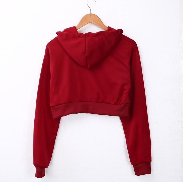 The Must-Have Over-sized Crop Hoodie Hoodies & Sweatshirts Rosie Design Store Red S