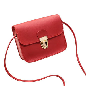 The Tiny Button Crossbody Shoulder Messenger Bag Top-Handle Bags St Ruizhu Store Red