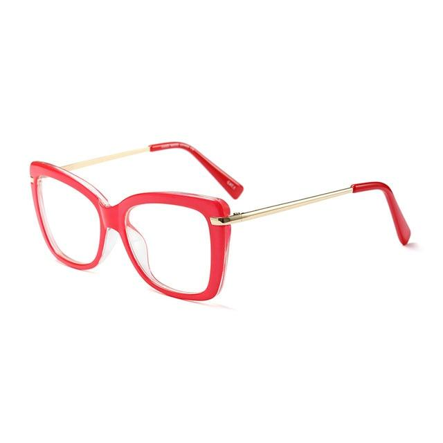 Find Your Dream Pair With The Squarish Cat Eyeglasses Frames Women's Eyewear Frames Logorela Official Store Red