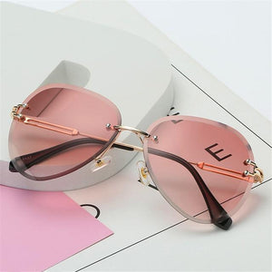 The Invisible Floating Rimless Frameless Gradient Tint Sunglasses Women's Sunglasses Shop4087002 Store Red