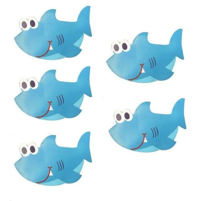 Silly Whale or Shark Anti-Bacterial Waterproof Non-Slip Grip Stickers Bath Mats My Bottle Store Silly Sharks