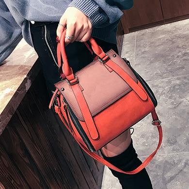 Classic Satchel Shoulder Crossbody Bag Handbag Shoulder Bags LEFTSIDE Official Store Chilli Red 26cm x 23cm x 14cm