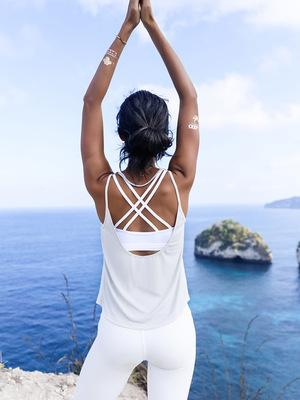 Easy-Breezy Backless Yoga Singlet Yoga Shirts LA a L'A Store White S