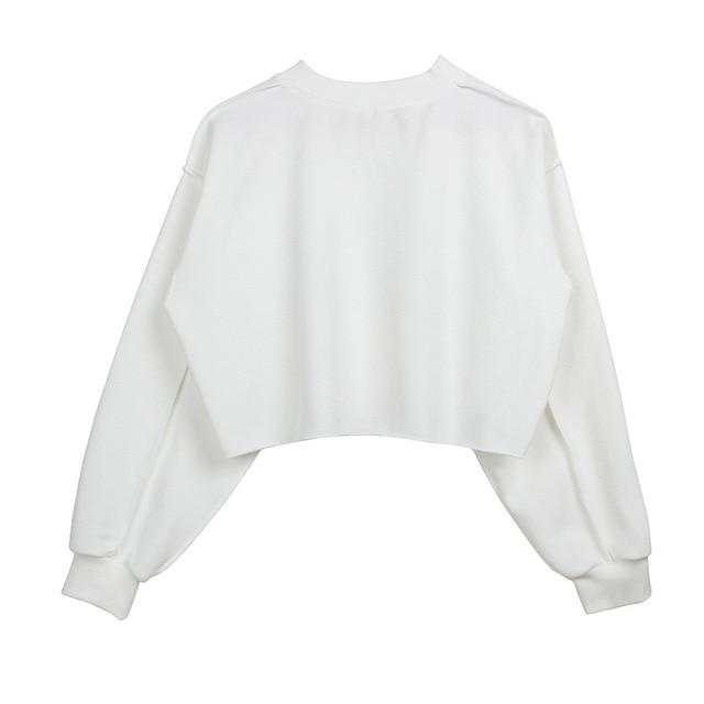 The Only Basic Autumn Winter Sweaters for Women Hoodies & Sweatshirts StreetwearX Store White S