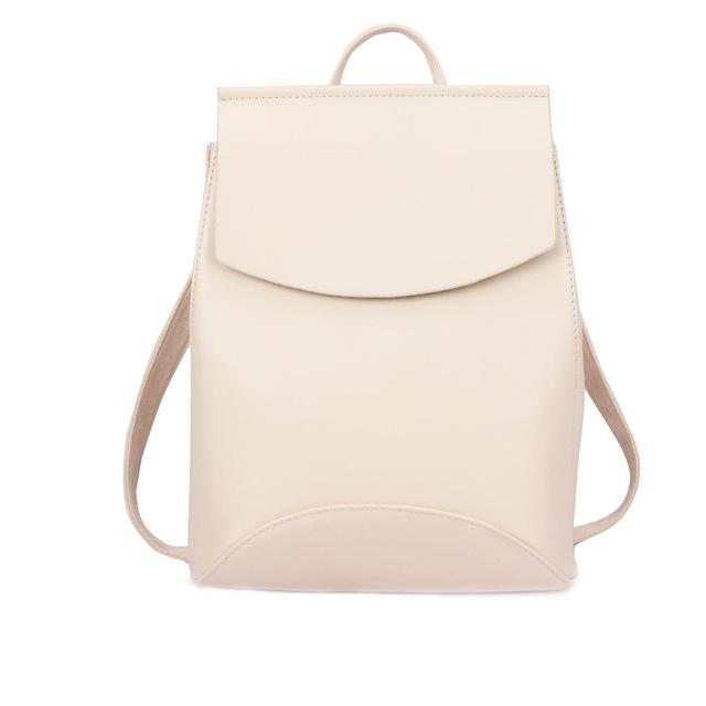 The Ultimate Minimal School Backpack Shoulder Bag Backpacks Zocilor Official Store White