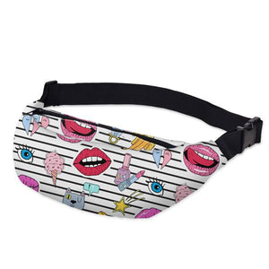 3D Printed Outdoor Silly Bean Waist Bags Collection Waist Packs deanfun Official Store Yummy Popart