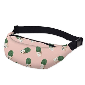 3D Printed Outdoor Silly Bean Waist Bags Collection Waist Packs deanfun Official Store The 50s Cactus
